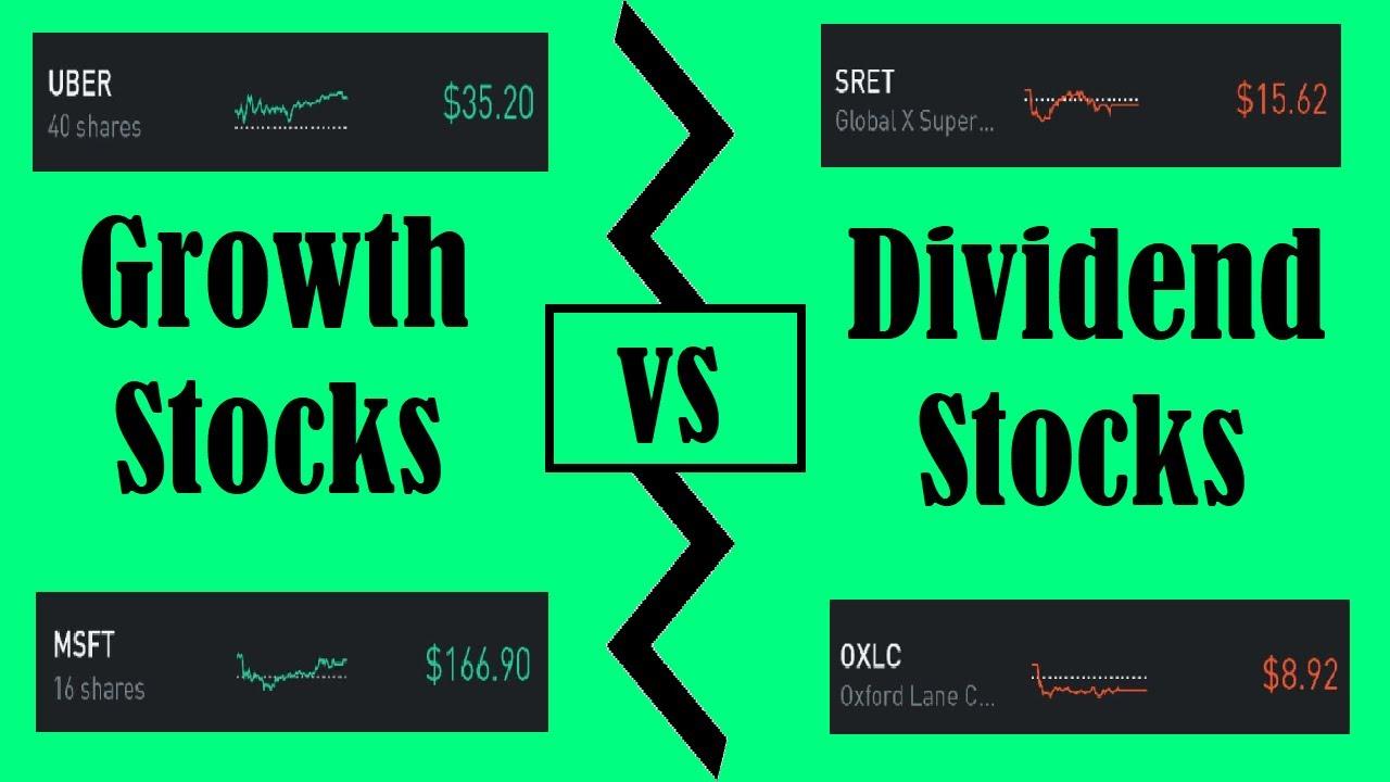 Growth Stocks vs Dividend Stocks - YouTube