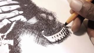 2PAC - Ballpoint Pen Drawing