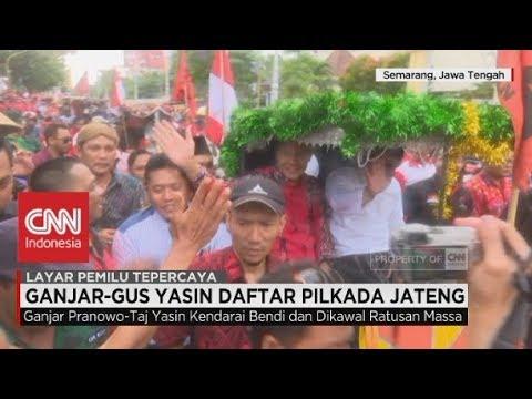 Naik Bendi, Ganjar - Gus Yasin Daftar Pilkada Jateng