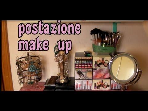 La mia postazione/collezione make up