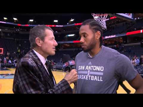 Kawhi Leonard After Game Interview with Craig Sager