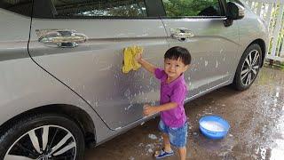 Tin Phụ Ba Rửa Xe ❤ Bé Tập Làm Việc Nhà ❤ Kids Toy Media