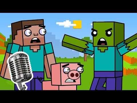 Выживание и Зомби (майнкрафт анимация) | Часть 1