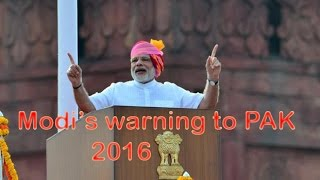 Narendra Modi's Final Warning to PAK on POK And Balochistan on 70th Independence Day || 2016