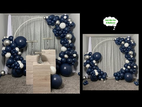 #howto Circle Balloon Arch - Decoration Ideas