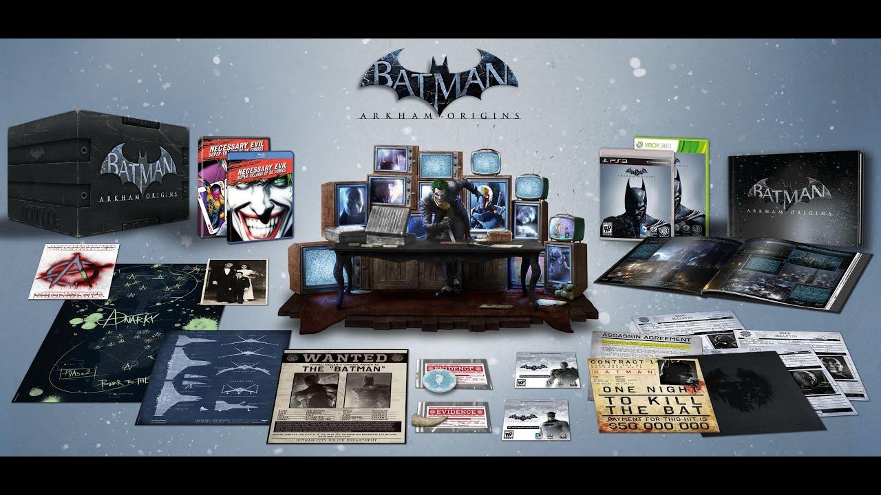 Unboxing Batman Arkham Origins Collectors Edition Limited Strategy Guide