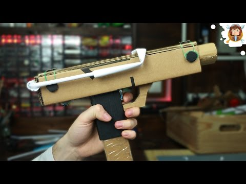 How To Make an Uzi - Cardboard Gun