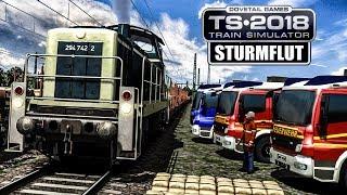 TS 2018: STURMFLUT - Sandsäcke per Zug transportieren | Train Simulator 2018 BR 294 #34