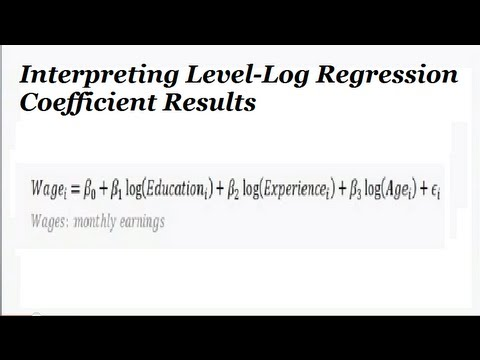 how to explain the regression results