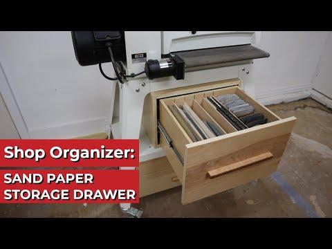 Woodworking Shop Organizer: Sand Paper Storage Drawer