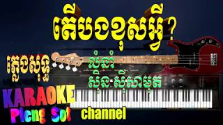 តើបងខុសអ្វី ភ្លេងសុទ្ធ - ter bong kus avey pleng sot,karaoke khmer