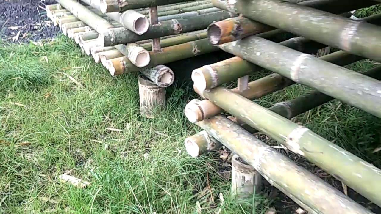 Cara Membuat Kandang Kambing Sederhana Dari Bambu - Kandang 1