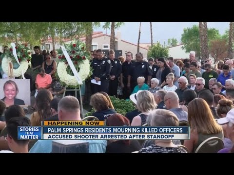 Palm Springs residents mourning killed officers
