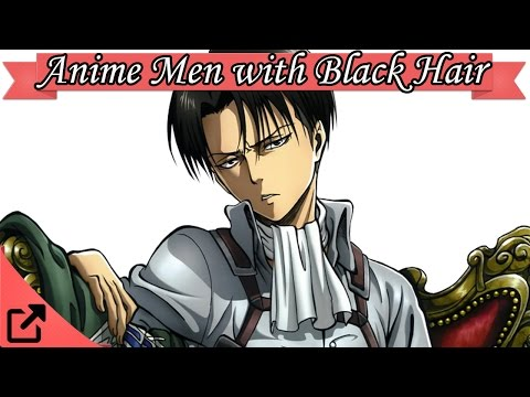 Anime guy with black hair and eyes