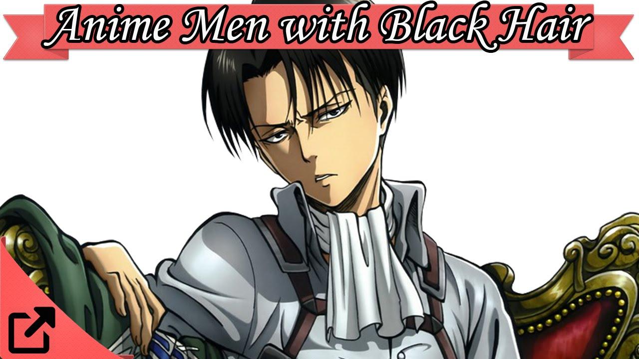 anime men boys with black