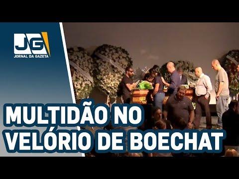 Multidão acompanha velório do jornalista Ricardo Boechat