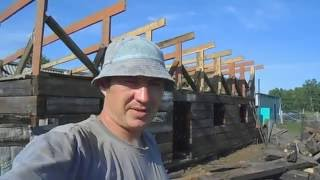 видео Чертеж сарая с односкатной крышей