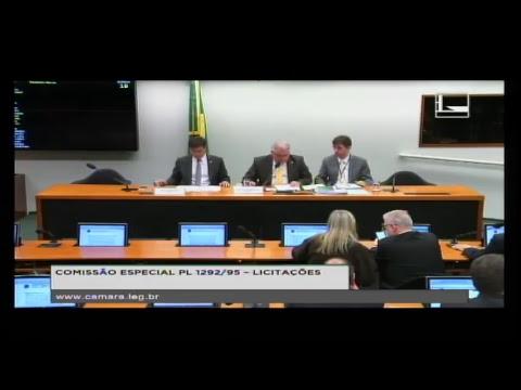 PL 1292/95 - LICITAÇÕES - Reunião Deliberativa - 23/05/2018 - 15:11