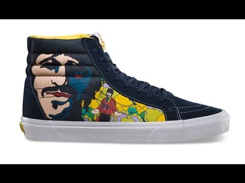bfa3026913 Shoe Review  Vans x The Beatles  Yellow Submarine  Sk8-Hi Reissue (Faces  Dress) - YouTube