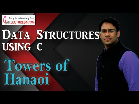 Data Structures using C 79 Towers of Hanoi Complete Explanation with Program Implementation