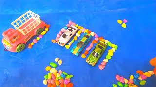 Kids toy parking with stone border  l  Kids Toys  l  Kids  l  Toys  l  Color Stone  ll Jawdan Toys