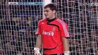Iker Casillas vs FC. Barcelona (07/08)