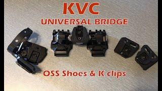 KVC Universal Night Vision Bridge, OSS Shoes & K Clips for dual PVS-14 and FLIR Breach