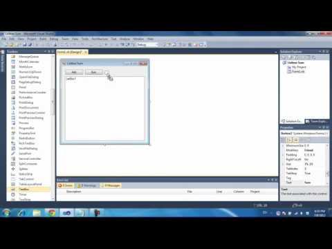 Visual Basic 2008/2010 Listbox Items Sum [2012]