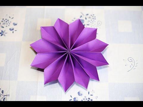 Easy Origami Flower วิธีพับดอกไม้