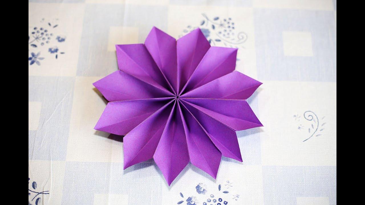 Easy Origami Flower Youtube