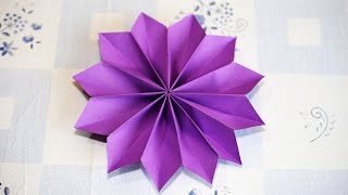 Repeat youtube video Easy Origami Flower วิธีพับดอกไม้