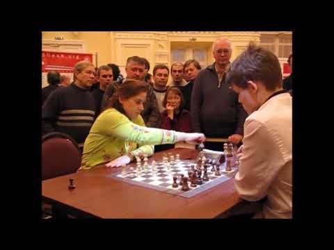 HISTORY Polgar, Judit Age 33  vs  Carlsen, Magnus Age 18 BLITZ Tal memorial