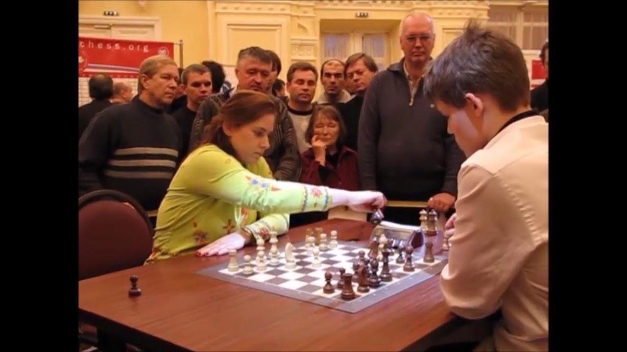 Download HISTORY Polgar, Judit Age 33  vs  Carlsen, Magnus Age 18 BLITZ Tal memorial