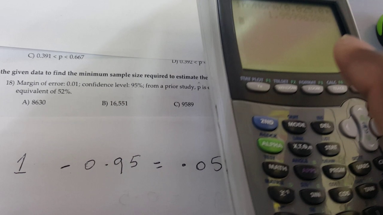 Use the given data to find the minimum sample size required to ...