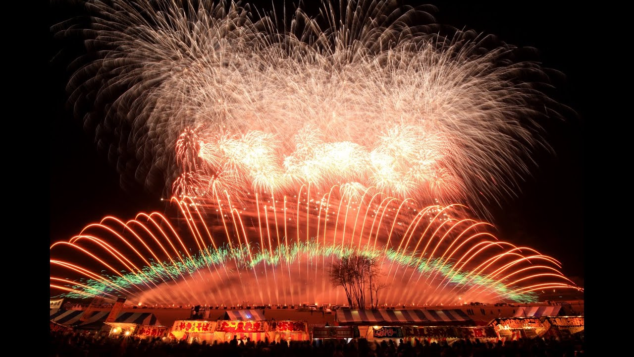 2014長野えびす講煙火大會 ミュージックスターマイン紅屋青木煙火店 Japanese fireworks Nagano ebisuko by Aoki fireworks ...