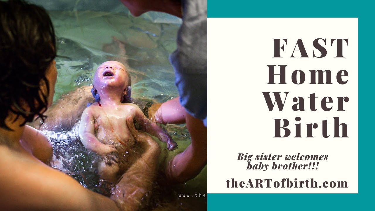 Fast home water birth of baby number two | The Art of Birth