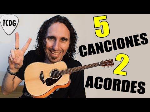 Toca 5 canciones fáciles en guitarra con solo ¡2 Acordes! | Ideal para principiantes