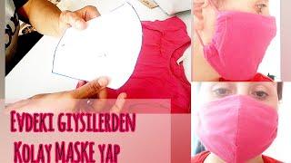 Yıkanabilir maske, bez maske, Virüs maskesi nasıl yapılır / Kendi maskeni kendin yap\\DIY Face mask