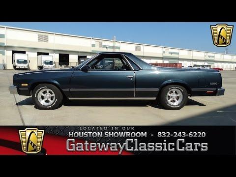 1987 Chevrolet El Camino Stock #474 Gateway Classic Cars of Houston