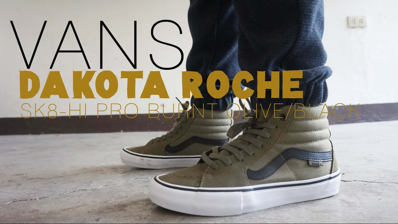 d6edc9494f VANS Sk8-Hi Pro DAKOTA ROCHE BURNT OLIVE BLACK On Feet and Review ...