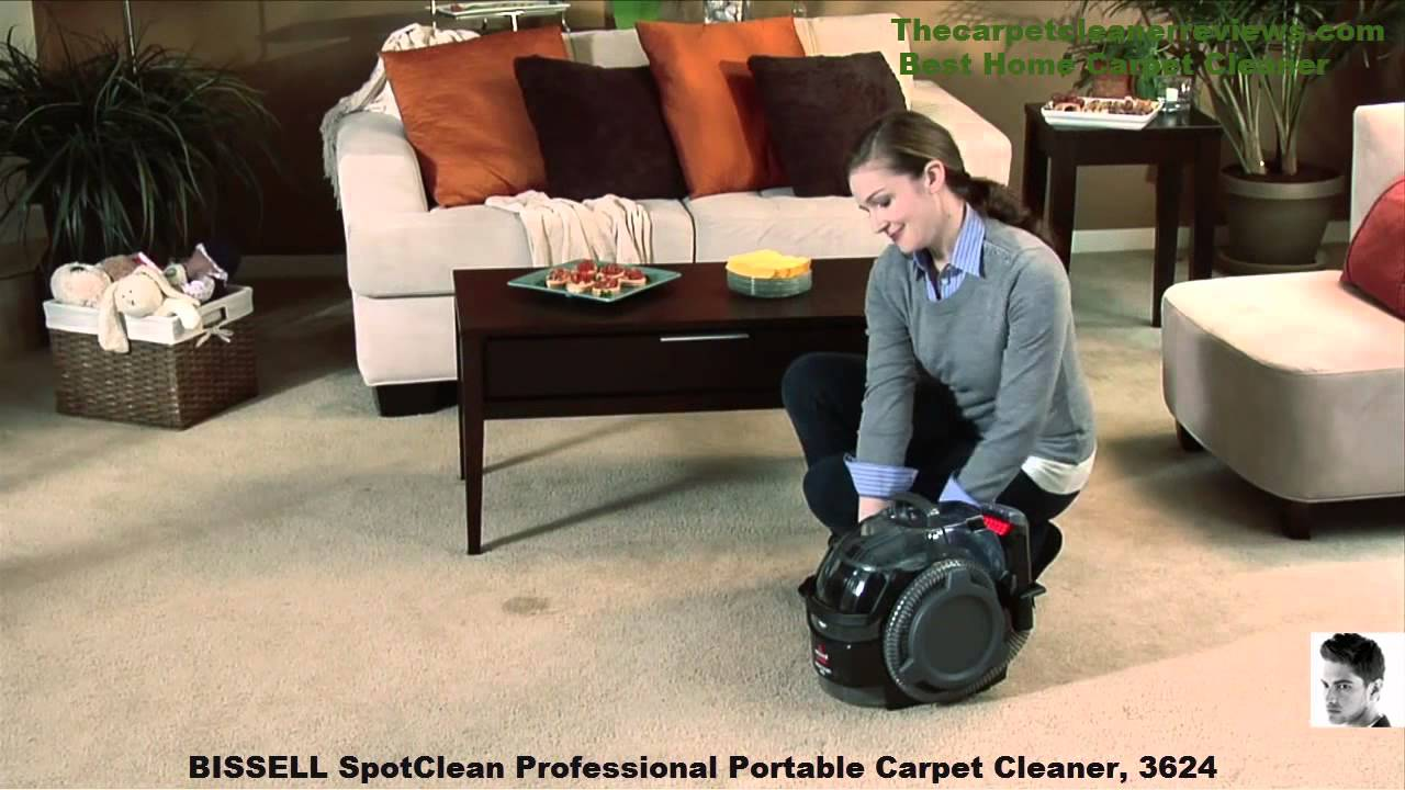 best home carpet spot clean pro portable deep cleaner youtube - Bissell Spot Cleaner