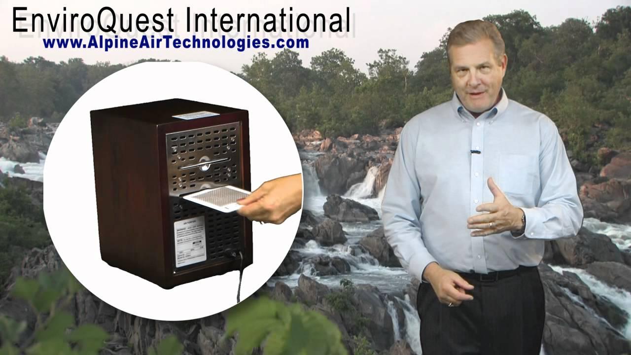 Alpine Living Air Purifiers Alpine Air Purifier Living Air Purifier Ecoquest Air Purifier Youtube