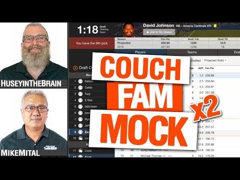 Fantasy Football Mock Draft 2019 (Sleeper Vs Yahoo) - Fantasy Couch Podcast 74