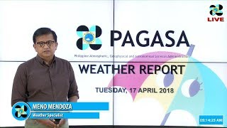 Public Weather Forecast Issued at 4:00 AM April 17 2018