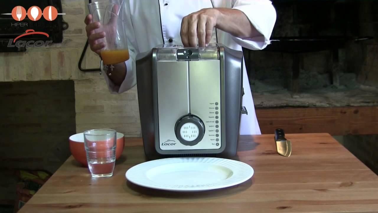 Maquina para hacer pasta fresca lacor 69137 luxe youtube - Maquina para hacer pastas caseras ...