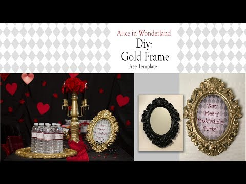 Alice in Wonderland DIY / GOLD FRAME