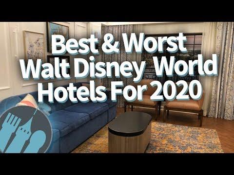 The BEST & WORST Walt Disney World Hotels for 2020!
