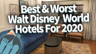 The BEST & WORST Walt Disney World Hotels for 2020!