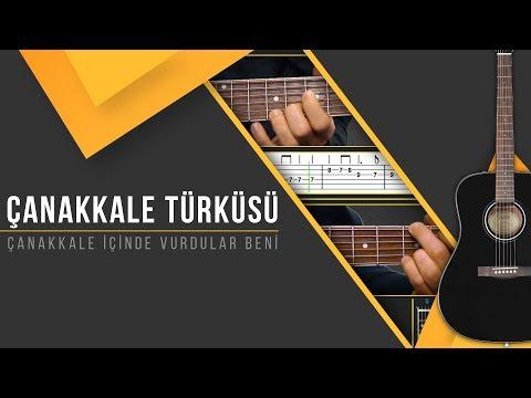 Çanakkale Türküsü [Gitar Solo/Ritm]+[TAB]+[AKOR]+[Karaoke]