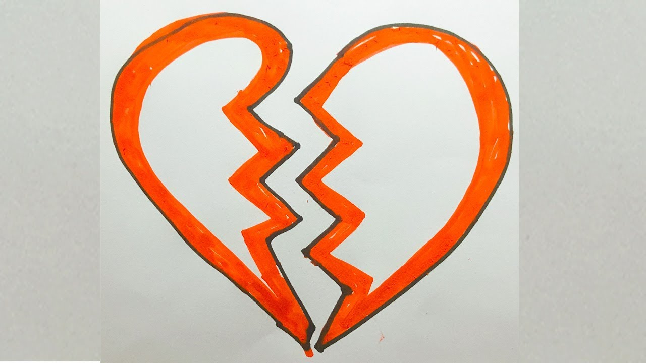 Heart Drawing Easy Step By Step Broken Heart Drawing Easy Top